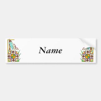 Native American Design Bumper Sticker