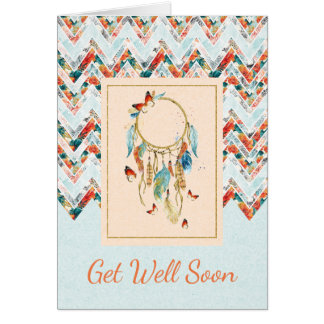 Native American Dreamcatcher Get Well Soon Card