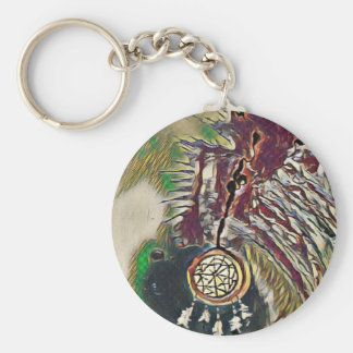 Native American Dreamcatcher Keychain