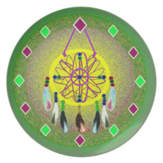 Native American Dreamcatcher Plate