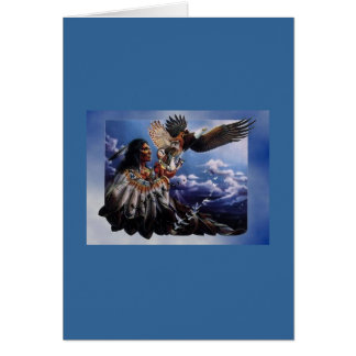 Native American Eagle Card