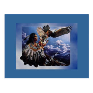 Native American Eagle Postcard