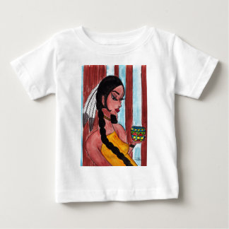 Native American Girl and Pot Baby T-Shirt
