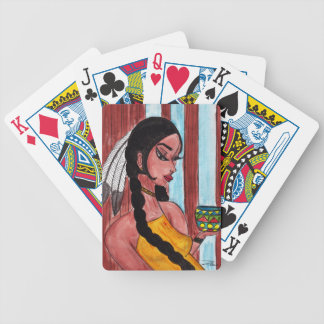 Native American Girl and Pot Bicycle Playing Cards