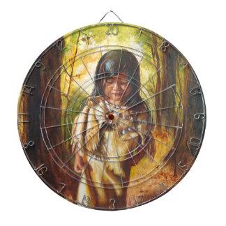 Native American Girl Dartboard