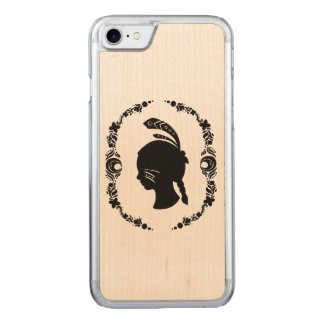 Native American Girl Silhouette Carved iPhone 8/7 Case