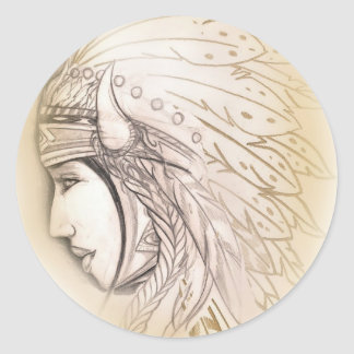 Native American Goddess Sticker