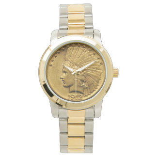Native American Gold Coin Watch
