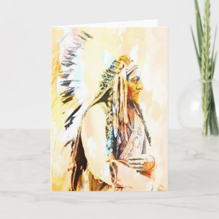Native american cards greeting cards more zazzle ca native american greeting cards of sitting bull m4hsunfo