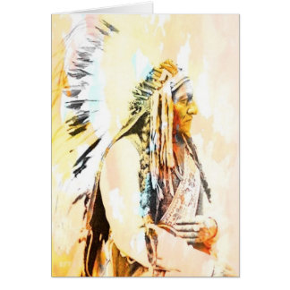 Native American Greeting Cards of Sitting Bull