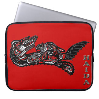 Native American Haida Otter Art Laptop Sleeve