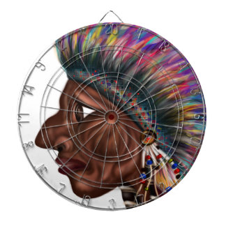 Native American Head Dartboards