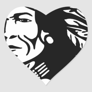 Native American Heart Sticker