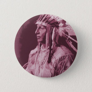 Native American Indian 2 Inch Round Button