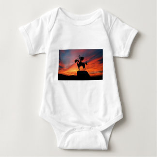 Native American Indian and horse Baby Bodysuit