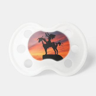 Native American Indian and horse Baby Pacifier