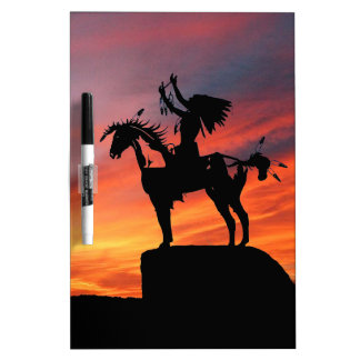 Native American Indian and horse Dry-Erase Whiteboards