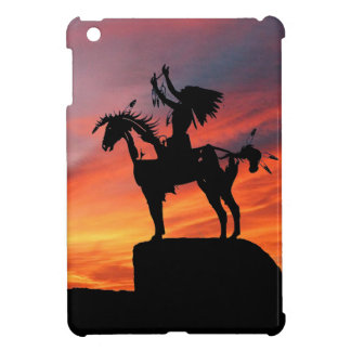 Native American Indian and horse iPad Mini Cases