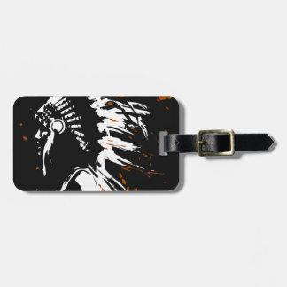 Native American Indian Bag Tag