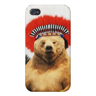 Native American Indian Bear! iPhone 4/4S Covers