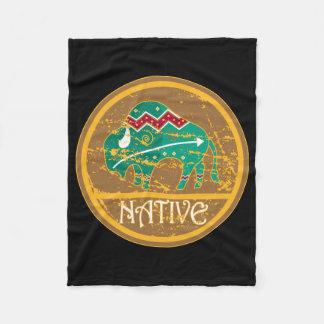 Native American Indian Buffalo Fleece Blanket