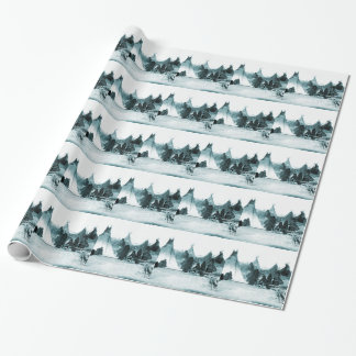 Native American Indian Camp 1890s Wrapping Paper