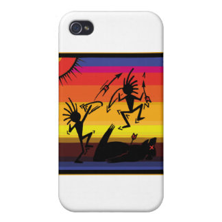 Native American Indian Cave Art iPhone 4/4S Covers