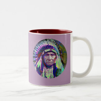 Native American Indian Chief Two-Tone Coffee Mug