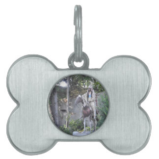 Native American Indian Chief with Horse Pet Tag