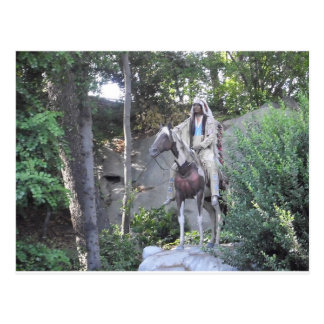 Native American Indian Chief with Horse Postcard