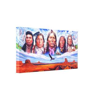 native american indian chiefs by serdar hizli canvas print