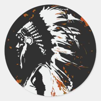 Native American Indian Classic Round Sticker