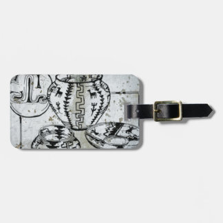 Native American Indian Clay Pottery Southwest Luggage Tag