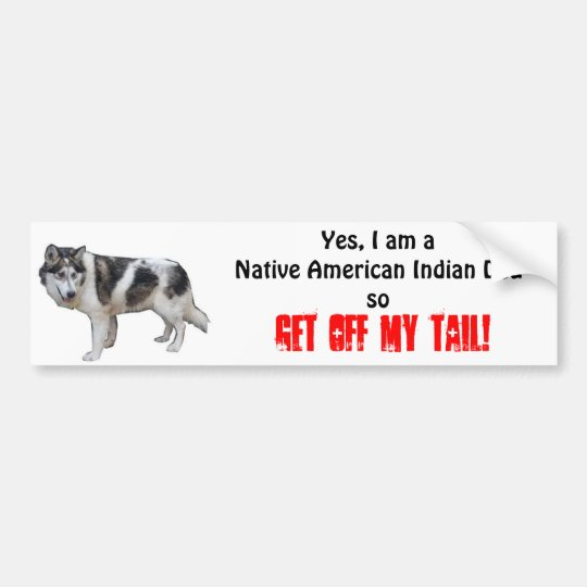 Native American Indian Dog Bumper Sticker