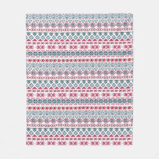 Native American Indian ethnic Fleece Blanket