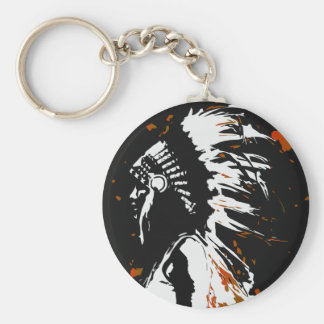 Native American Indian Keychain