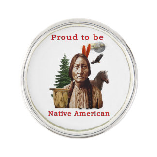 Native American Indian Lapel Pin