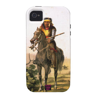 Native American Indian on Horse Back Case-Mate iPhone 4 Covers