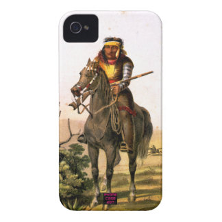 Native American Indian on Horse Back iPhone 4 Case-Mate Cases