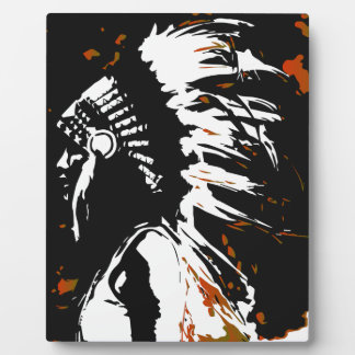 Native American Indian Plaque
