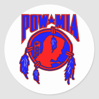Native American Indian POW-MIA Classic Round Sticker