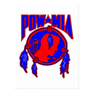 Native American Indian POW-MIA Postcard