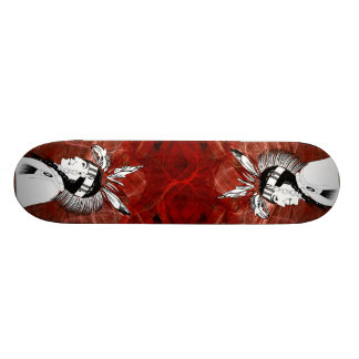 Native American Indian Profile Skate Board Deck