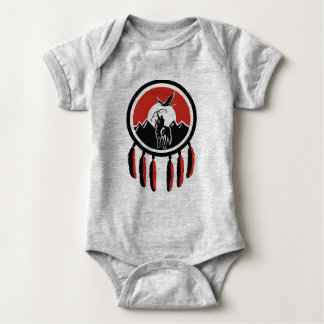 Native American Indian Shield Baby Jersey Bodysuit