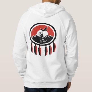 Native American Indian Shield Fleece Hoodie