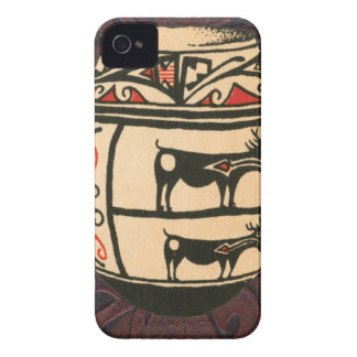 Native American Indian Southwest Antelope Pottery iPhone 4 Case-Mate Case