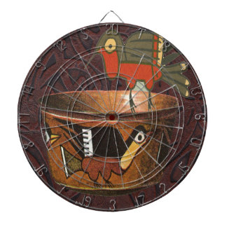 Native American Indian Southwest Bird Pottery Dart Boards