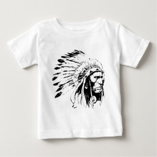 Native American Indian Tribal Chief with Headdress Baby T-Shirt