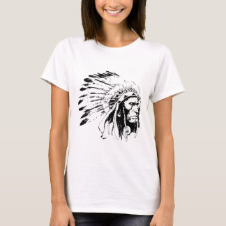 Native American Indian Tribal Chief with Headdress T-Shirt