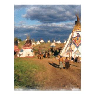 Native American Indian Village Letterhead